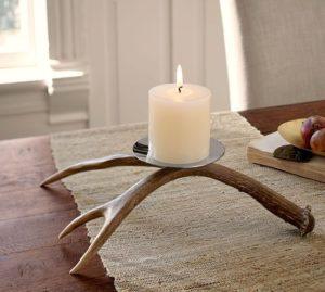 antler candle holder